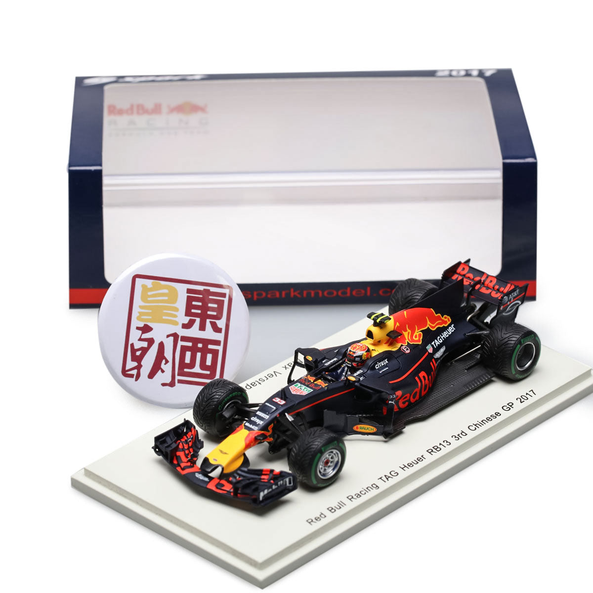 SPARK 1:43 Red Bull Racing RB13 #33 3rd Chinese GP 2017 Max Verstappen Resin Model Car S5037