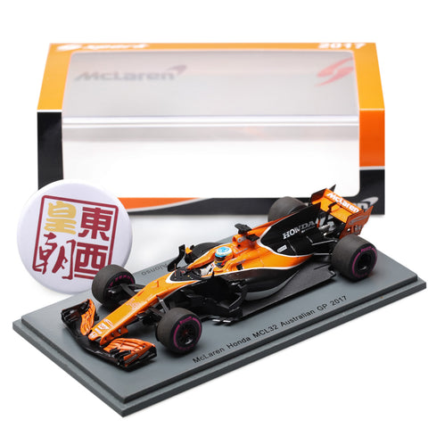 SPARK 1:43 McLaren Honda MCL32 F1 #14 GP Australien 2017 Fernando Alonso Resin Model Car S5040