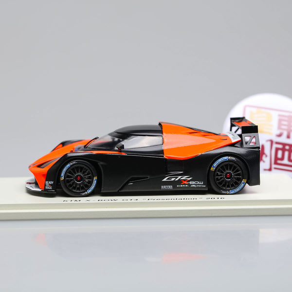 SPARK 1:43 Ktm X-Bow Gt4 Presentation 2016 Orange Black Resin Model Car S5660