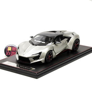 Frontiart SophiArt 1:18 W Motor Fenyr Supersport after Lykan Silver Resin Model Car SA003-01