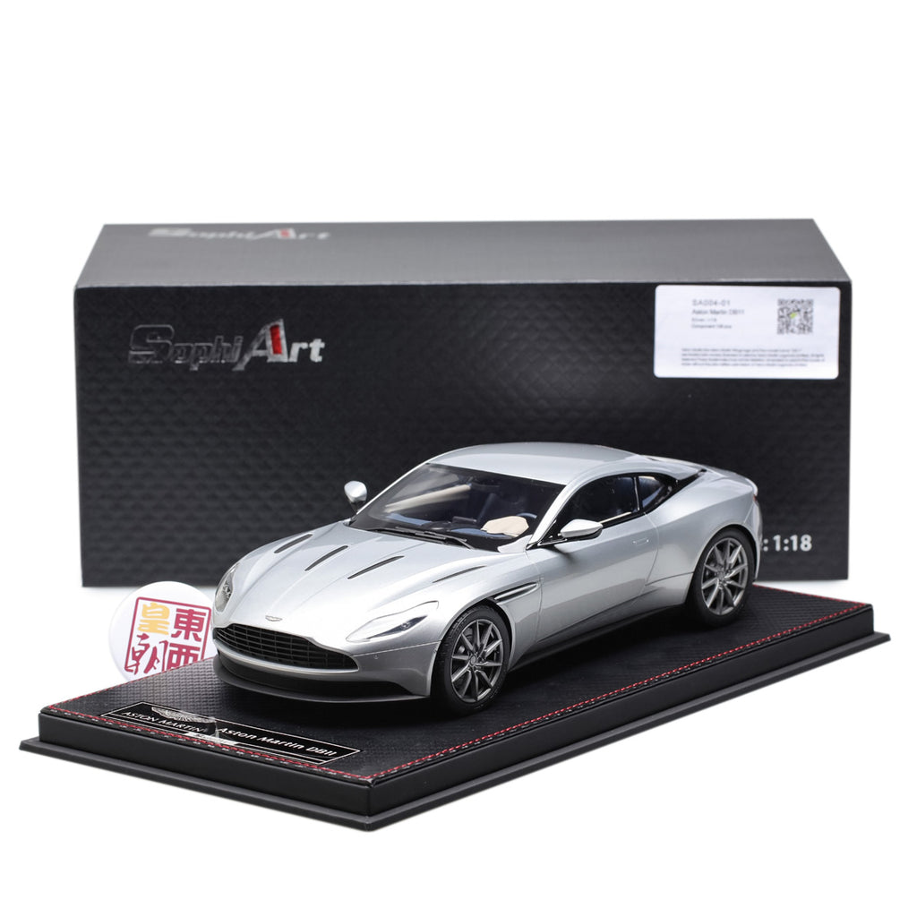 Frontiart Sophiart 1:18 Aston Martin DB11 Silver Resin Model Car SA004 01  ...