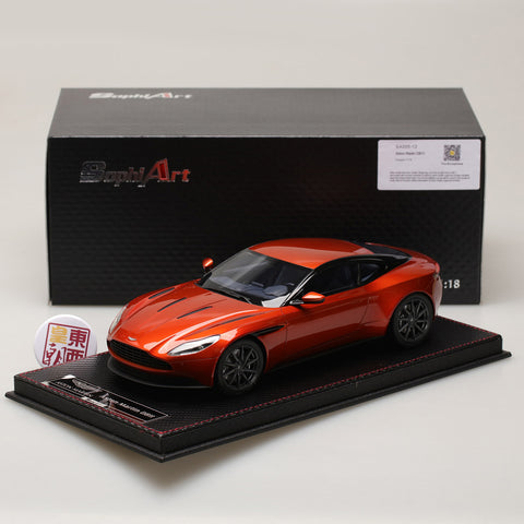 Frontiart Sophiart 1:18 Aston Martin DB11 Metal orange Resin Model Car SA005-12