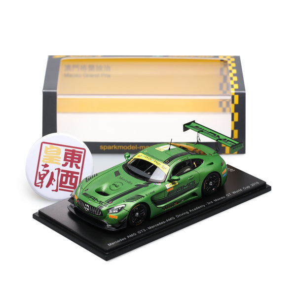 SPARK 1:43 Mercedes-AMG GT3 #1 3rd Macau GT World Cup 2016 Maro Engel Resin Model Car SA111
