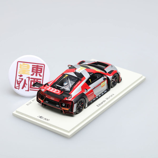 SPARK 1:43 Audi R8 Lms #7 Macau Gt World Cup 2016 E.Mortara Resin Model Car SA116