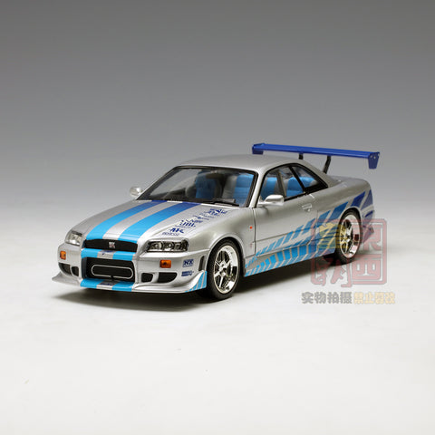 GreenLight 1:18 Artisan Collection - Fast & Furious - 2 Fast 2 Furious (2003) - 1999 Nissan Skyline GT-R (R34) 19029