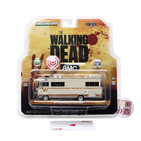 GreenLight 1:64 The Walking Dead (2010-Current TV) - 1973 Winnebago Chieftain with Umbrella & Camping Chairs 33100-B