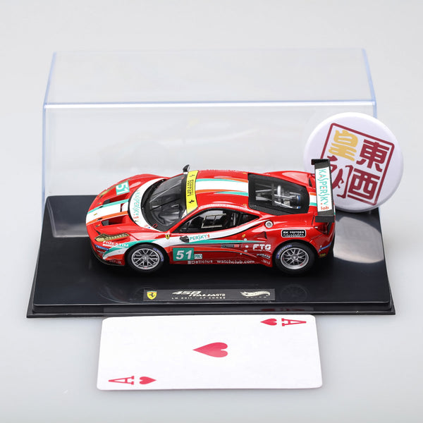 Hot Wheels Elite 1:43 Ferrari 458 Italia GT2 Le Mans 2011 AF Corse Diecast Model Car X5497