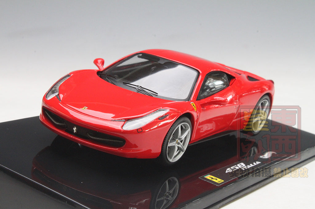 Hot Wheels Elite 1:43 Ferrari 458 Italia Red Diecast Model Car X5502