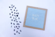 Dusty Blue Lettergram 10x10