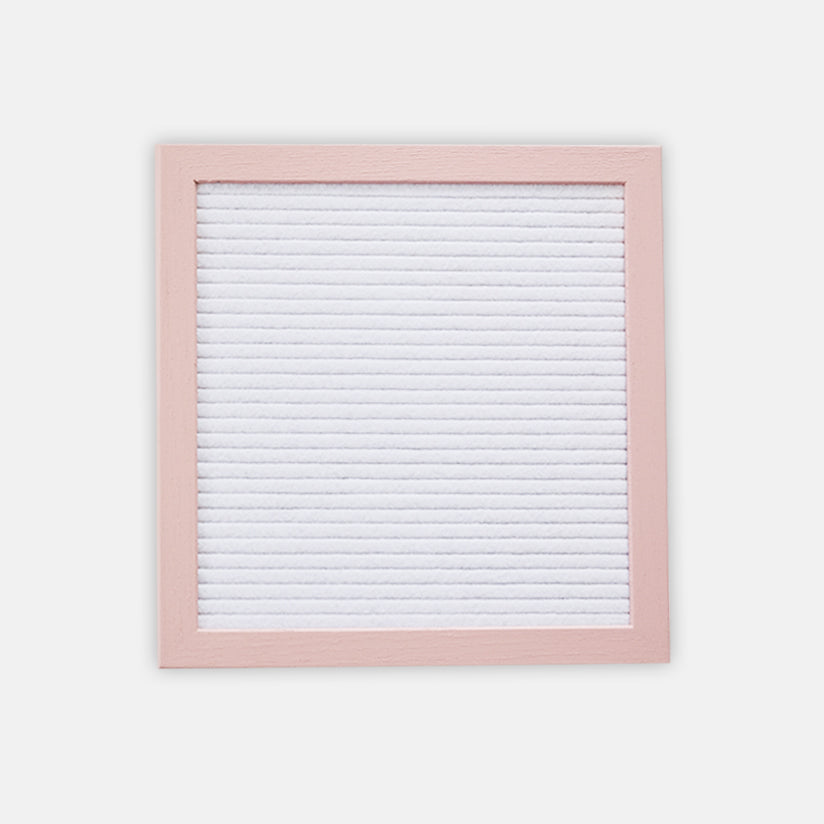 White 10x10 in Dusty Rose