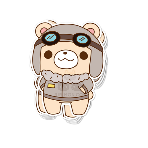 Teddy B. Air Sticker