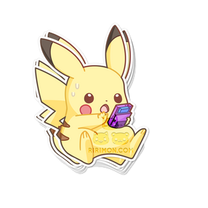 Pika+Gameboy Sticker