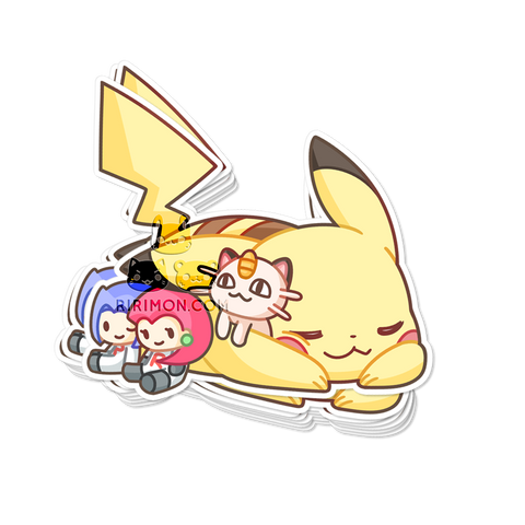 Pika+Friends Sticker