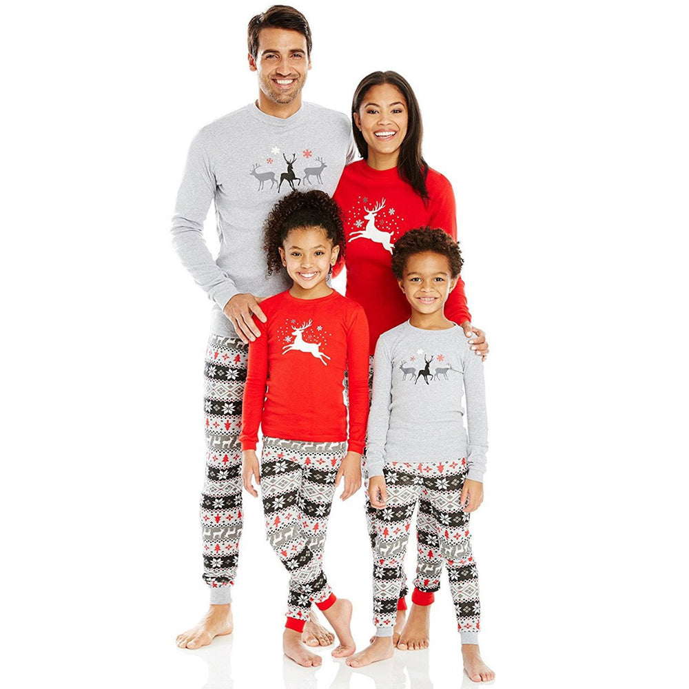 7e7a70370e 2017 Christmas Pajamas Family Matching Mother Kids Father Son Mon Baby New  Year Pajama Sleepwear set