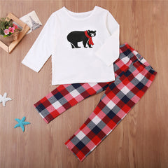 Family Matching Christmas Pajamas PJs Sets New Xmas Men Women Kid Sleepwear Nightwear Cartoon Hot Sale Family Match PJS Set