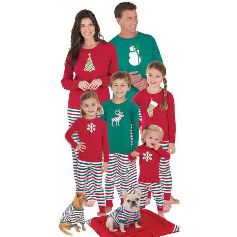 XMAS Kids Baby Adult Family Matching Nightwear Pajamas Set Sleepwear Pyjama set