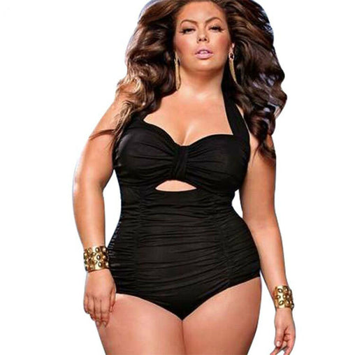 Plus Size One Piece Solid Swimsuit Swimwear Bathing Suits