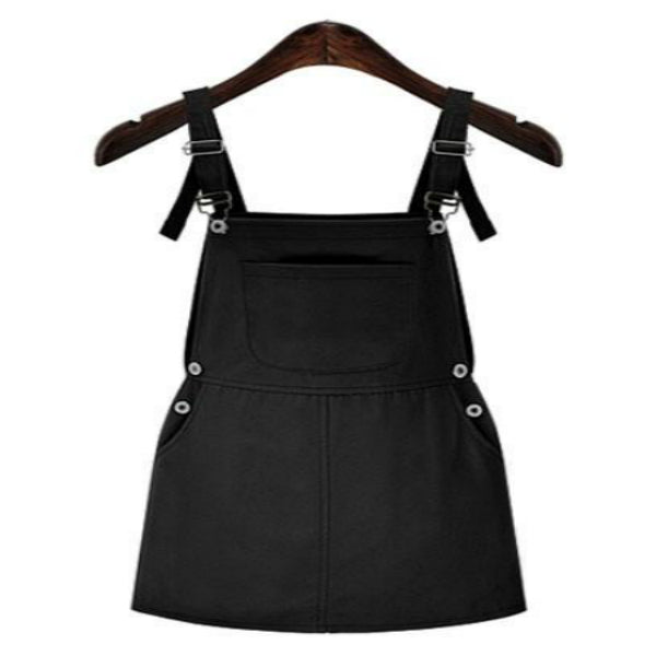 Plus Size Casual Overall Short Pocket Spaghetti Strap Dress