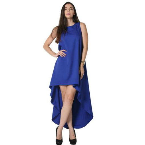 Women Summer Irregular Sleeveless High Low Long Dress