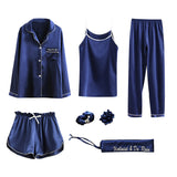 Pajamas Seven Pieces For Woman Home Comfortable Fall Summer Pjs
