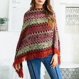 2018 Multi-Way Wearing Fringe Knitting Sweaters Bohemia Jumpers Capes
