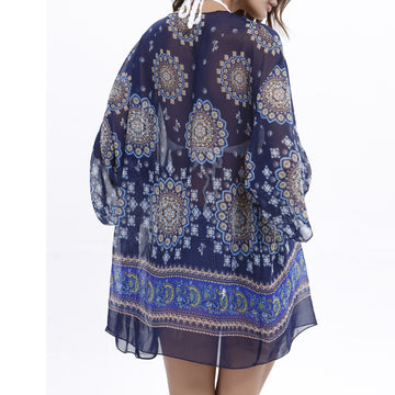 2018 Long Sleeve Beach Tops Woman's Summer Bohemia Cardigans