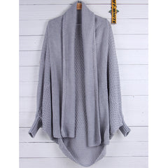 Autumn Fashion Bat Wing Sleeve Scarf Collar Knitting Cardigans