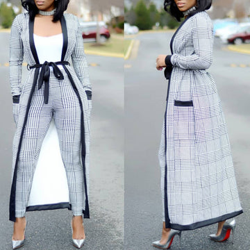 2018 Fashion Three Pieces Long Pants And Cardigans Loose Casual Suits