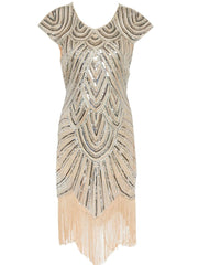 1920s Flapper Dress Great Gatsby Vintage Sequin Tassels Dress