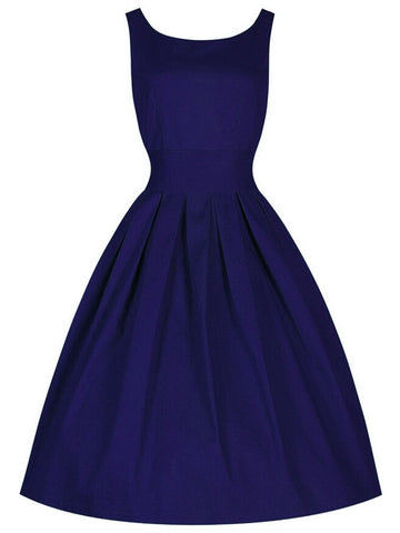 Classic 50's Audrey Hepburn Retro Vintage Style Cocktail Party Swing Dress