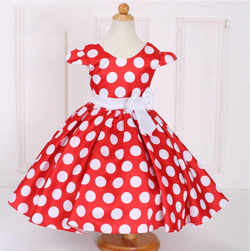 Fashion Flower Girls Dresses Dot print Princess Ball Gown For Party Wedding Dress