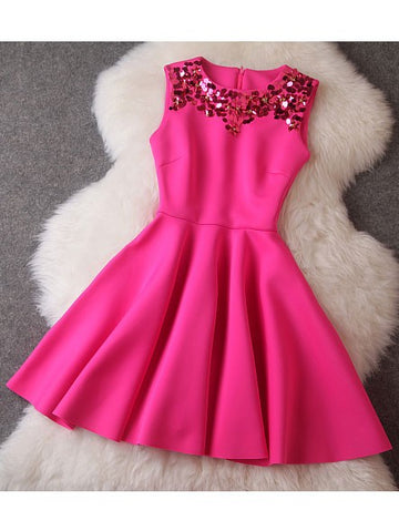 Cute Short Homecoming Sequin Tutu Eve Party Skater Cocktail Dress