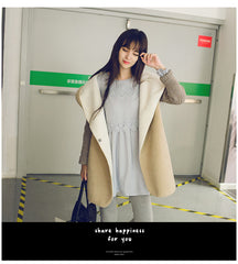 Autumn/Winter Warm Thicken Women Long Loose Hooded Cardigans Coats