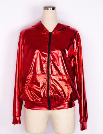 Spring Autumn Women Stage Performance Wear Hip Hop Dance Bomber Jackets