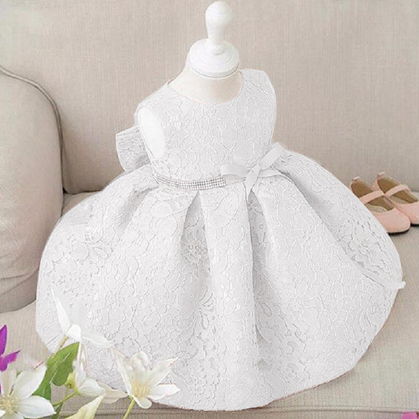 15c618918509 Flower Girl Dresses Baptism Christmas Wedding Pageant Toddler Clothing Belt  Infant Party Dress