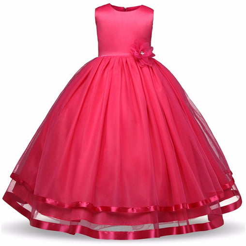 Summer Long Flower Girls Dress Princess Pageant Party Formal Dress