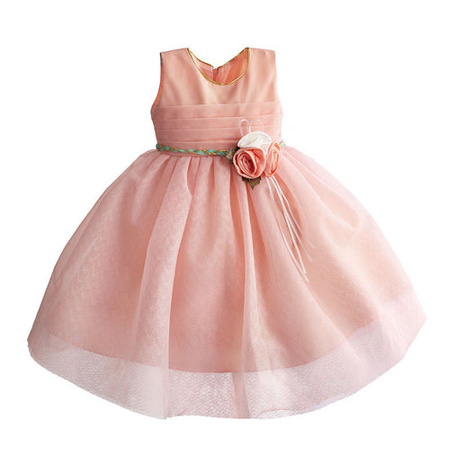 Flower Girl Dress For Wedding Sleeveless Lace Tulle Toddler Kids Dresses