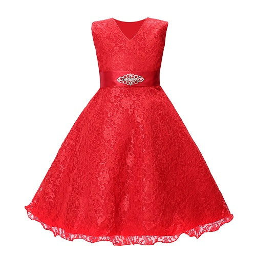 Flower Girl Dress for Wedding Party Lace Prom Dresses