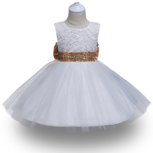 First Communion Dresses Big Bow Lace TuTu Infant Toddler Pageant Ball Gown Party Wedding Dress