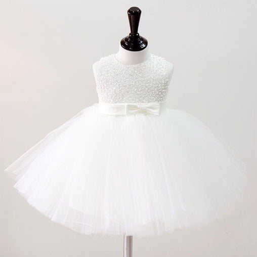 First Communion Dresses Girl Christening Gowns Wedding Hand Beading Baptism Dress