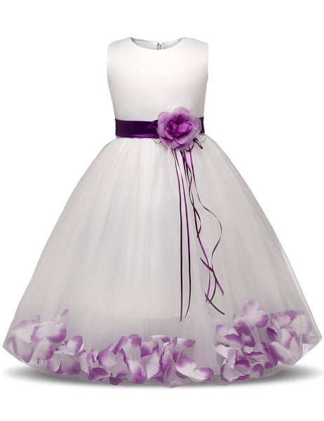 First Flower Girl Dress Party Wedding Veil Dresses Kids Party Wear Costume