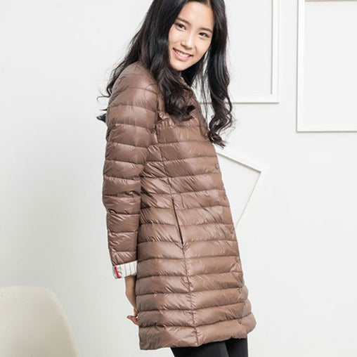 Thin Down Jacket Winter Coat Women Long Coats Outerwear Parka
