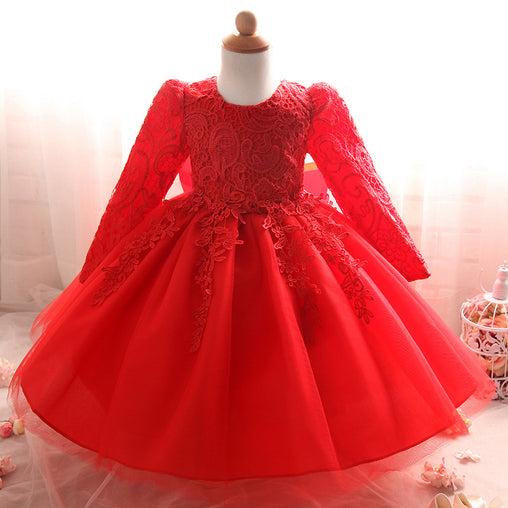 Kids Birthday Party Wedding TuTu Lace Flower Girl Dresses Children Bridesmaid Elegant Dress