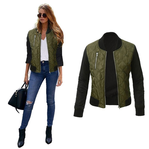Fashion Woman Outwear Spring Autumn Basic Baseball Bomber Jackets