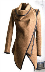 Plus Size Autumn Spring Women's Slim Trench Wool & Blends S-4XL Coats