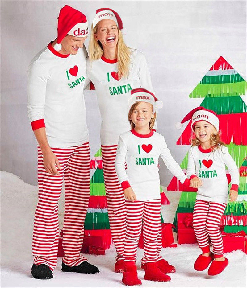 1685b89cfc Christmas Family Pajamas Family Matching pjs Mother Daughter Son Clothes Father  Kids Outfits