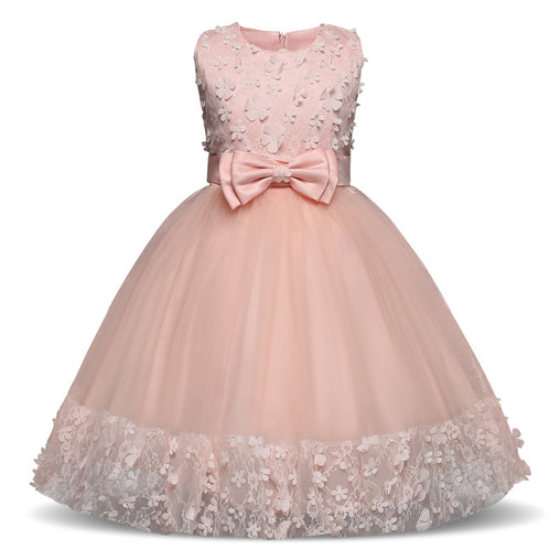Pink Flower Girl Dresses For Christmas Birthday Wedding Dress Tutu Dresses
