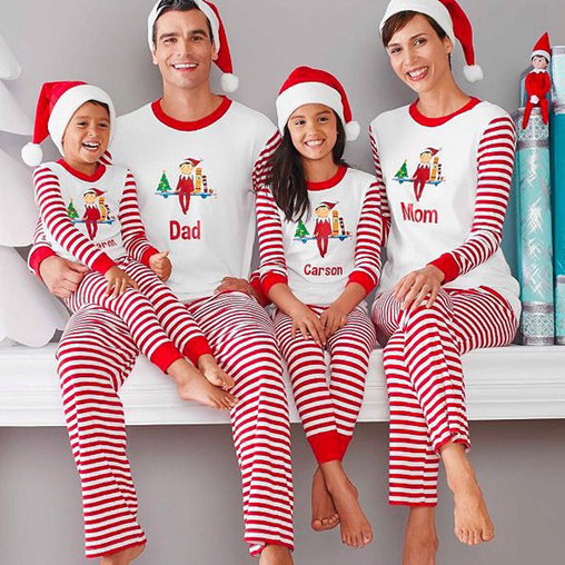 Family Christmas Pajamas Family Matching Clothes Matching Mother Father Kids