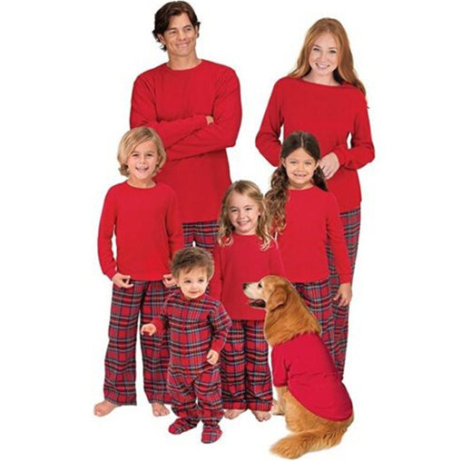 Matching Christmas PJS Family Mom Father Kid Baby Sleepwear Xmas Family Match