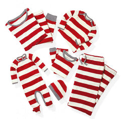 Family Clothes Set Christmas Pajamas PJs Sets Xmas Sleepwear Nightwear Striped Tops +Pants